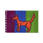 orange dog heel Rectangle Magnet (100 pack)
