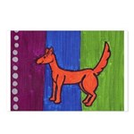orange dog heel Postcards (Package of 8)