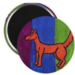 orange dog heel Magnet