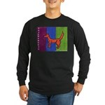 orange dog heel Long Sleeve Dark T-Shirt