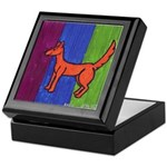 orange dog heel Keepsake Box