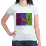 orange dog heel Jr. Ringer T-Shirt