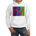 orange dog heel Hooded Sweatshirt