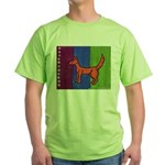 orange dog heel Green T-Shirt