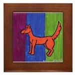 orange dog heel Framed Tile