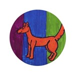 "orange dog heel 3.5"" Button (100 pack)"