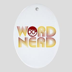 Word Nerd Oval Ornament