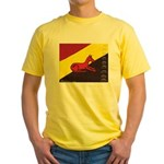 stay dog stay Yellow T-Shirt