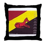 stay dog stay Throw Pillow