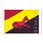 stay dog stay Rectangle Sticker 50 pk)