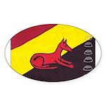 stay dog stay Oval Sticker