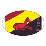 stay dog stay Oval Sticker (10 pk)