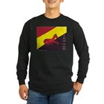 stay dog stay Long Sleeve Dark T-Shirt