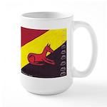 stay dog stay Large Mug