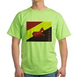 stay dog stay Green T-Shirt