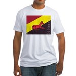 stay dog stay Fitted T-Shirt