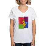 Walk the Yellow Dog Women's V-Neck T-Shirt