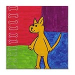 Walk the Yellow Dog Tile Coaster