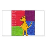 Walk the Yellow Dog Rectangle Sticker 10 pk)