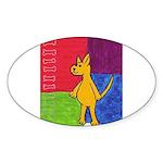 Walk the Yellow Dog Oval Sticker