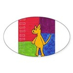 Walk the Yellow Dog Oval Sticker (10 pk)