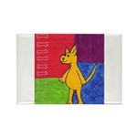 Walk the Yellow Dog Rectangle Magnet (10 pack)