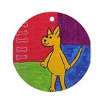 Walk the Yellow Dog Ornament (Round)