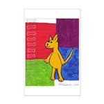 Walk the Yellow Dog Mini Poster Print