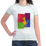 Walk the Yellow Dog Jr. Ringer T-Shirt