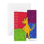 Walk the Yellow Dog Greeting Card