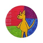 """Walk the Yellow Dog 3.5"""" Button (100 pack)"""