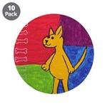 """Walk the Yellow Dog 3.5"""" Button (10 pack)"""