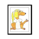 dog Bride Framed Panel Print