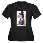 dog Groom Women's Plus Size V-Neck Dark T-Shirt