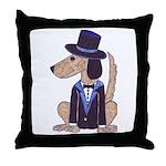 dog Groom Throw Pillow