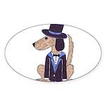 dog Groom Oval Sticker (10 pk)