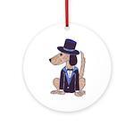 dog Groom Ornament (Round)
