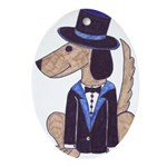 dog Groom Oval Ornament