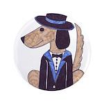 "dog Groom 3.5"" Button"