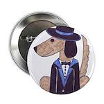 "dog Groom 2.25"" Button"