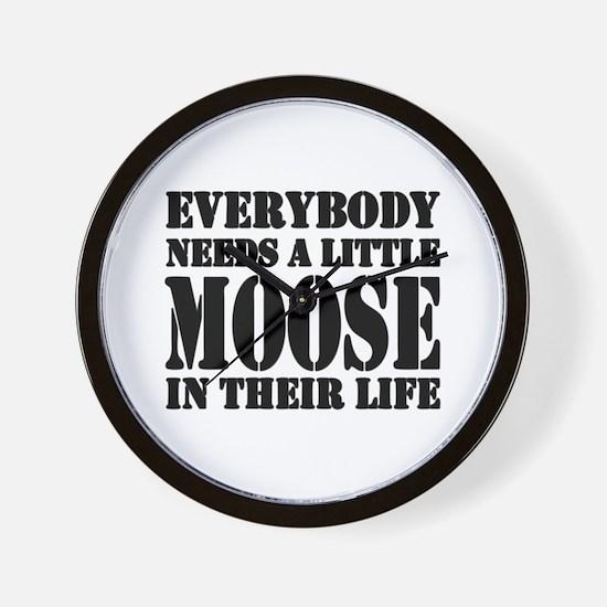 Cute Moose Wall Clock
