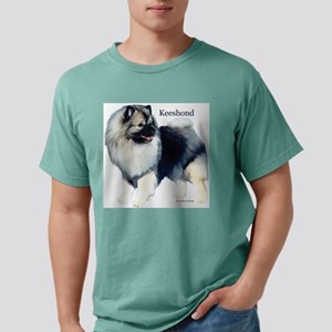 """Smiling Keeshond"" Ash Grey Tee T-Shirt"