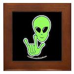 ILY Alien Framed Tile