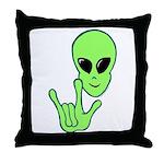 ILY Alien Throw Pillow