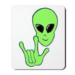 ILY Alien Mousepad