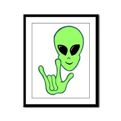 ILY Alien Framed Panel Print