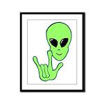 ILY Alien Framed Panel Print