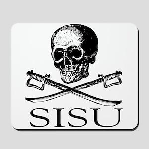 Sisu skull and crossbones Mousepad
