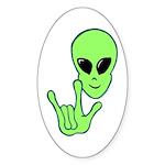 ILY Alien Oval Sticker (10 pk)