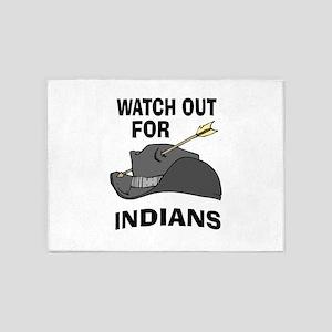 INDIANS 5'x7'Area Rug